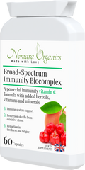 Broad-Spectrum Immunity Biocomplex. A Potent Formula of Vitamin C+Bioflavanoids, Vitamins, Minerals and Herbal extracts.