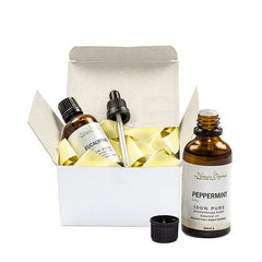Peppermint and Eucalyptus Oils Twin Pack 2 x 50ml by Nomara Organics. 100% Pure & Natural, perfect for oil burners, vaporisers