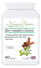Load image into Gallery viewer, Nomara Organics Bio-Complex Cleanse for gastrointestinal support.  Contains  a combination of 12 herbs including natural caprylic acid from coconut.