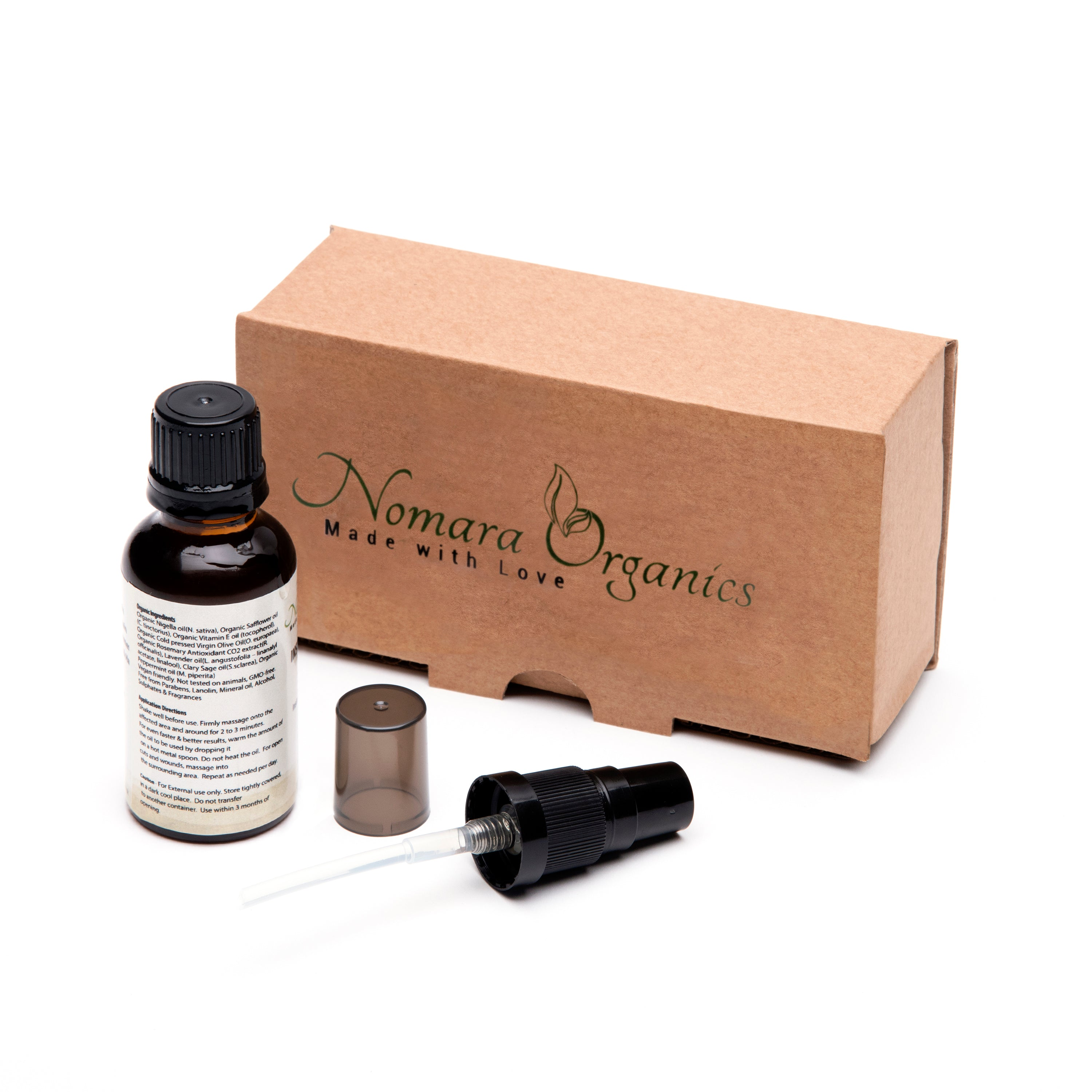 Nomara Organics INSTANT PAIN RELIEF OIL -Organic Oil blend  For Aches & Pains. Instantly Dissolves the Pain Away
