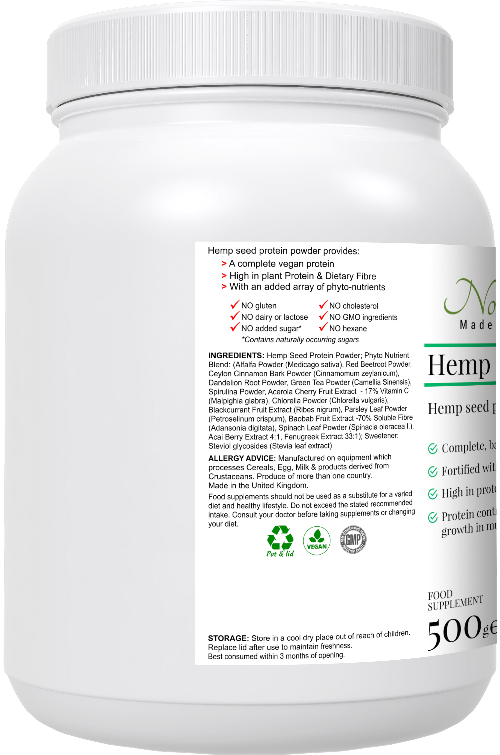 Hemp Protein Powder and Phyto-nutrient Blend