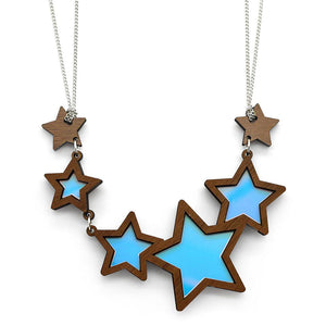 Shooting Star Necklace showing Turquoise
