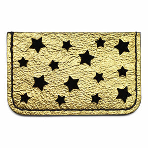 Gold Star Cut Leather Card Holders