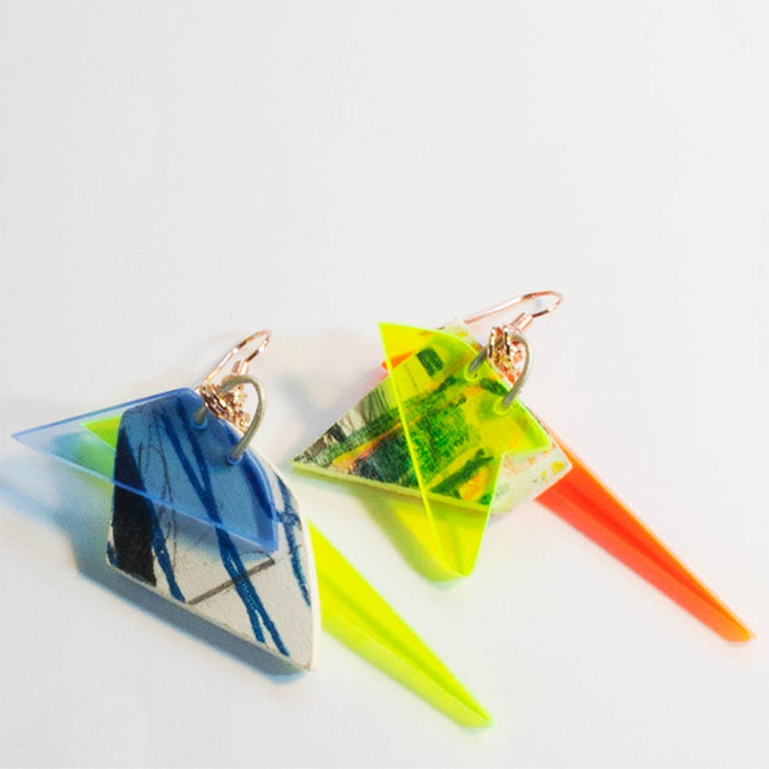 Unique Retro Designer Earrings  - Small B