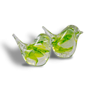 Studio Glass Bird Lime Green