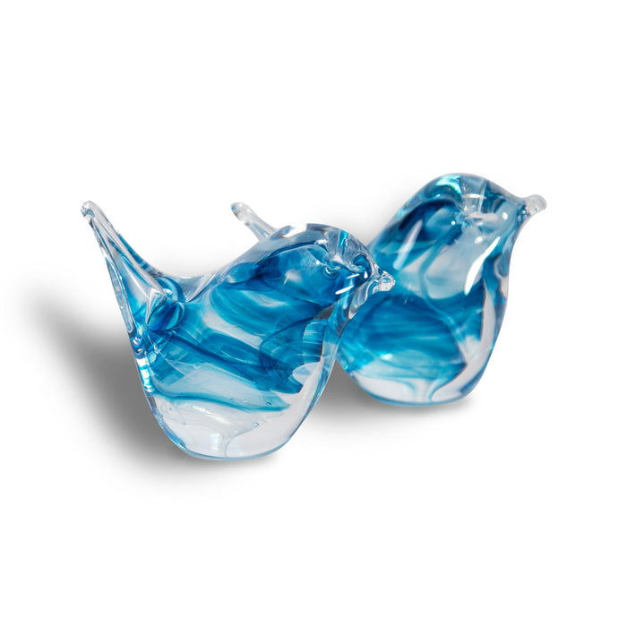 Studio Glass Bird by Richard Glass  Aqua