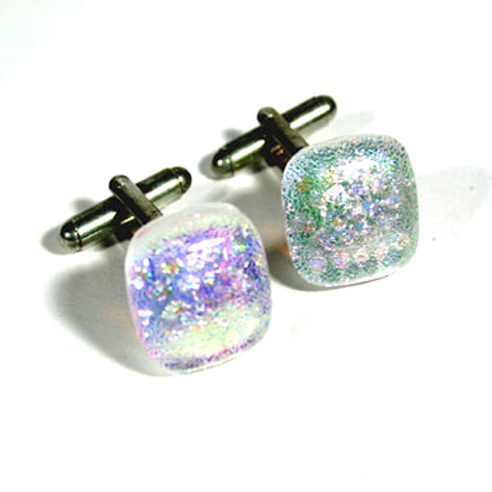 Dichroic Glass Cufflinks