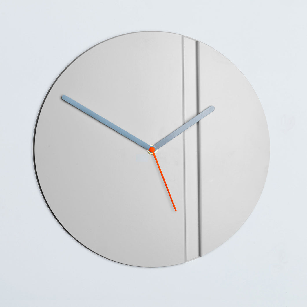Contemporary White Wall Clock