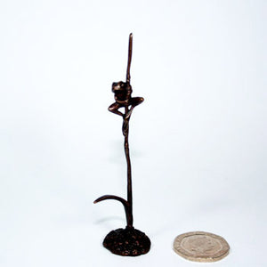 Bonsai Bronze Frog on Reed - SOLD OUT