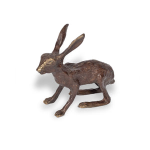 Bronze Small Sitting Hare by Oriel Bronze