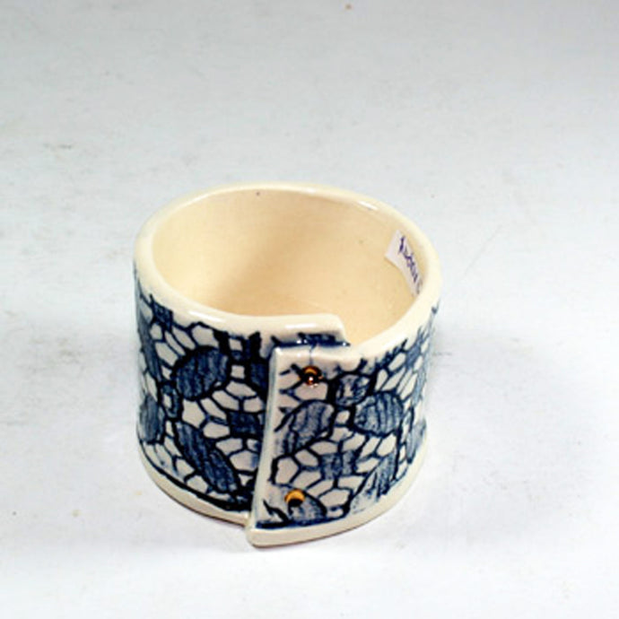 Cafe Blue and White Egg Cup by Vanessa Conyers Ceramics