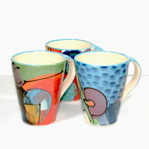 Ceramic Large Angled Vibrant Mug by Richard Wilson Ceramics