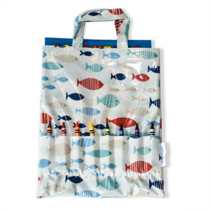 Crayon Bags  - Shoal design - bag with crayons and colouring book