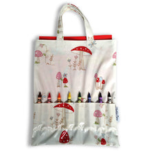 Crayon Bags  - toadstool design - bag with crayons and colouring book