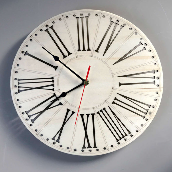 Cut out Roman Numerals Wall Clock by Olive Design