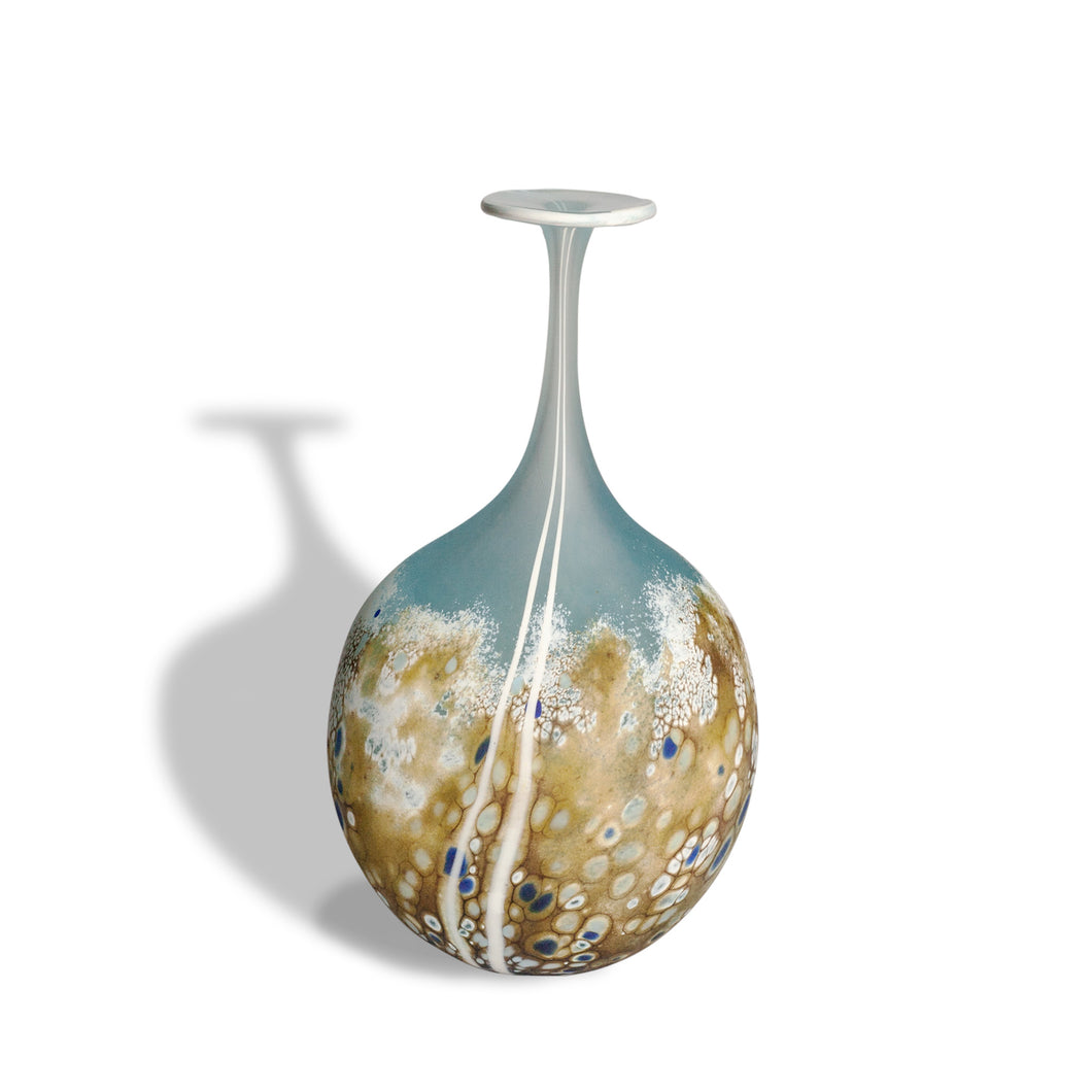 Glass Beach Small Flat Flask by Martin Andrews