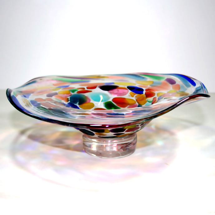 Glass Multi Coloured Dish Gaudi by Shakspeare Glass