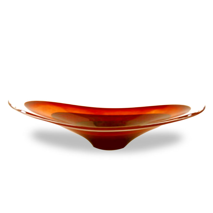 Glass Saturn Oval Fruitbowl by House of Marbles - Teign Valley