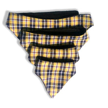 Dog's Bandana Medium - Cornish Tartan with black fleece back