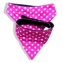Dog's Bandana Medium  - 100% cotton with black fleece back