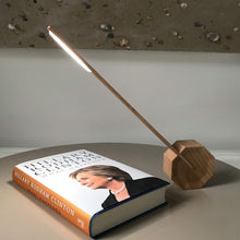 Octagon One Desk Lamp Maple Lit lifestyle