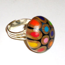 Pencil Pebble Recycled Ring