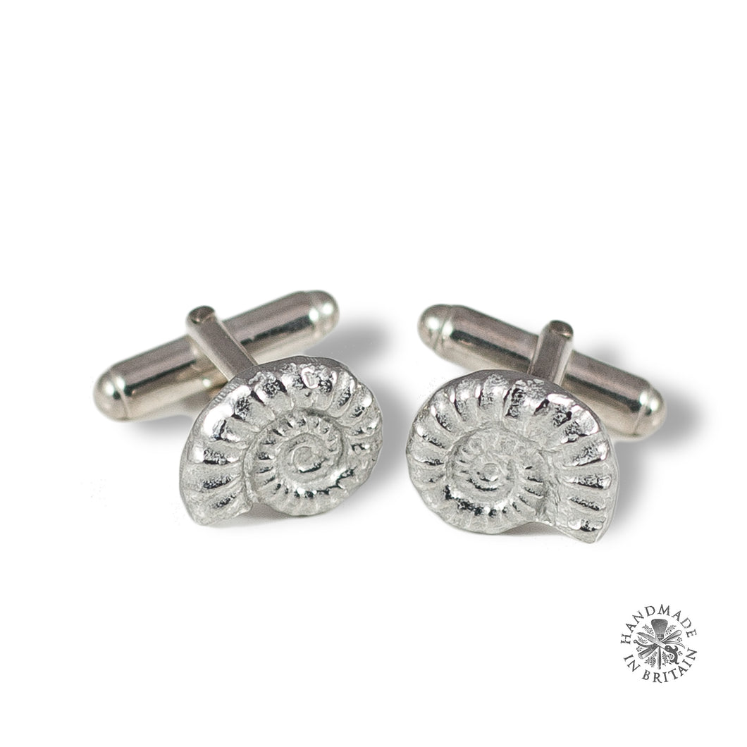 Pewter Ammonite Cufflinks