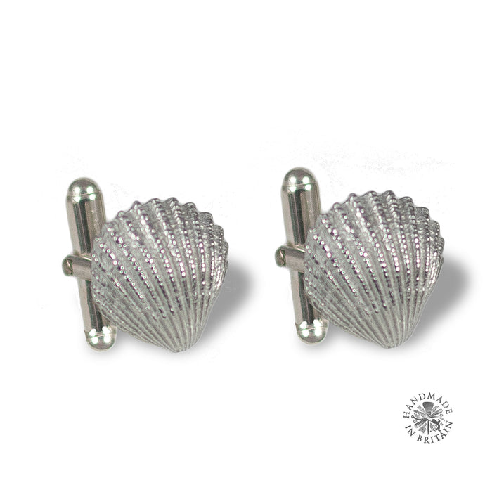 Pewter Cockle Cufflinks