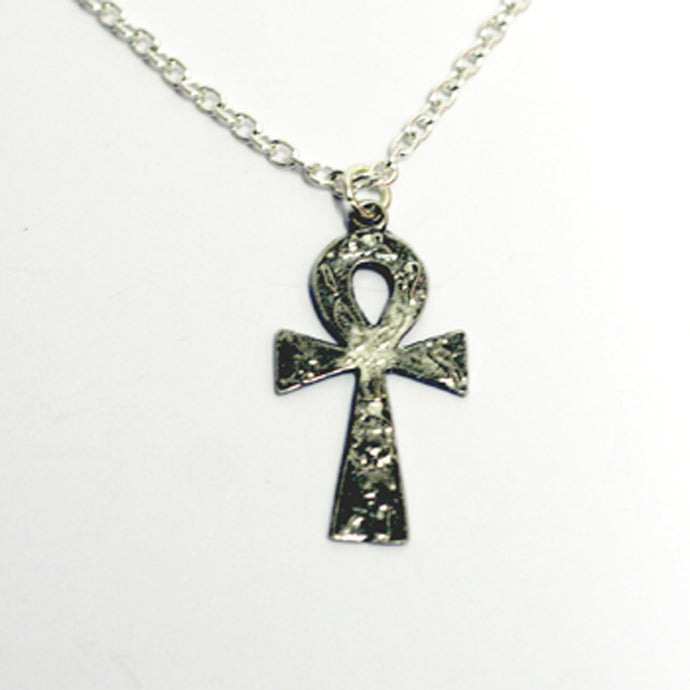 Pewter Cross & Chain ANKH