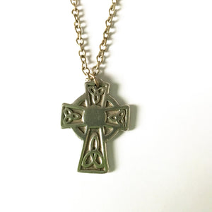 Pewter Cross & Chain Celtic