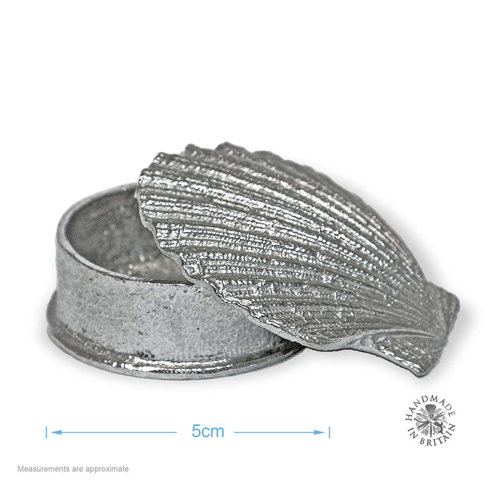 Pewter Scallop Shell Box