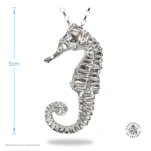 Pewter Seahorse Pendant on Chain