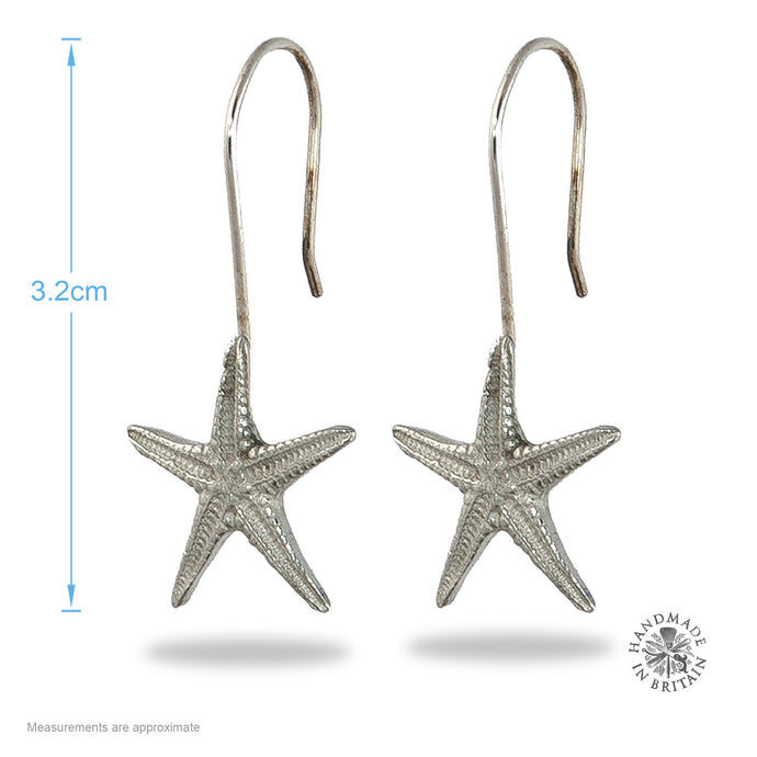 Pewter Starfish Earrings