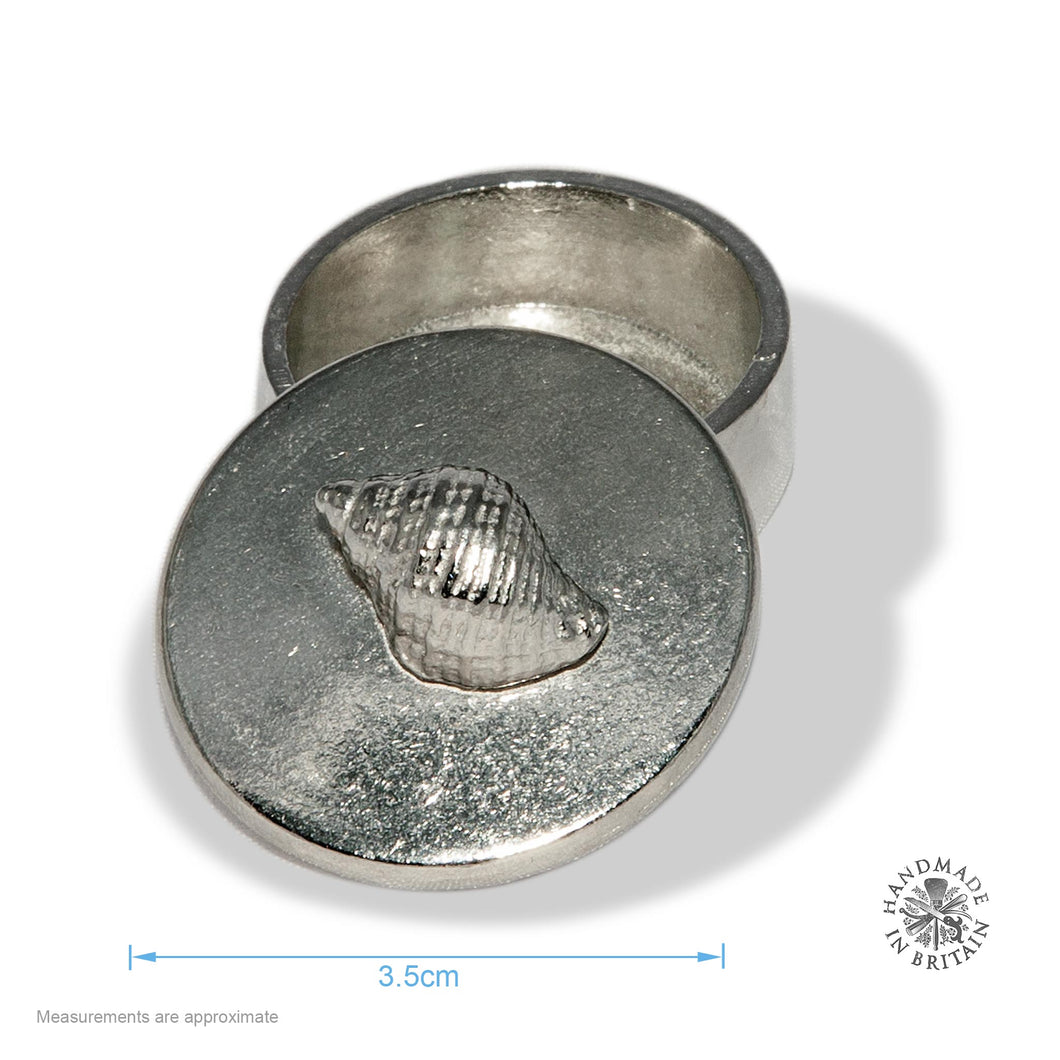 Pewter Tiny Shell topped Box