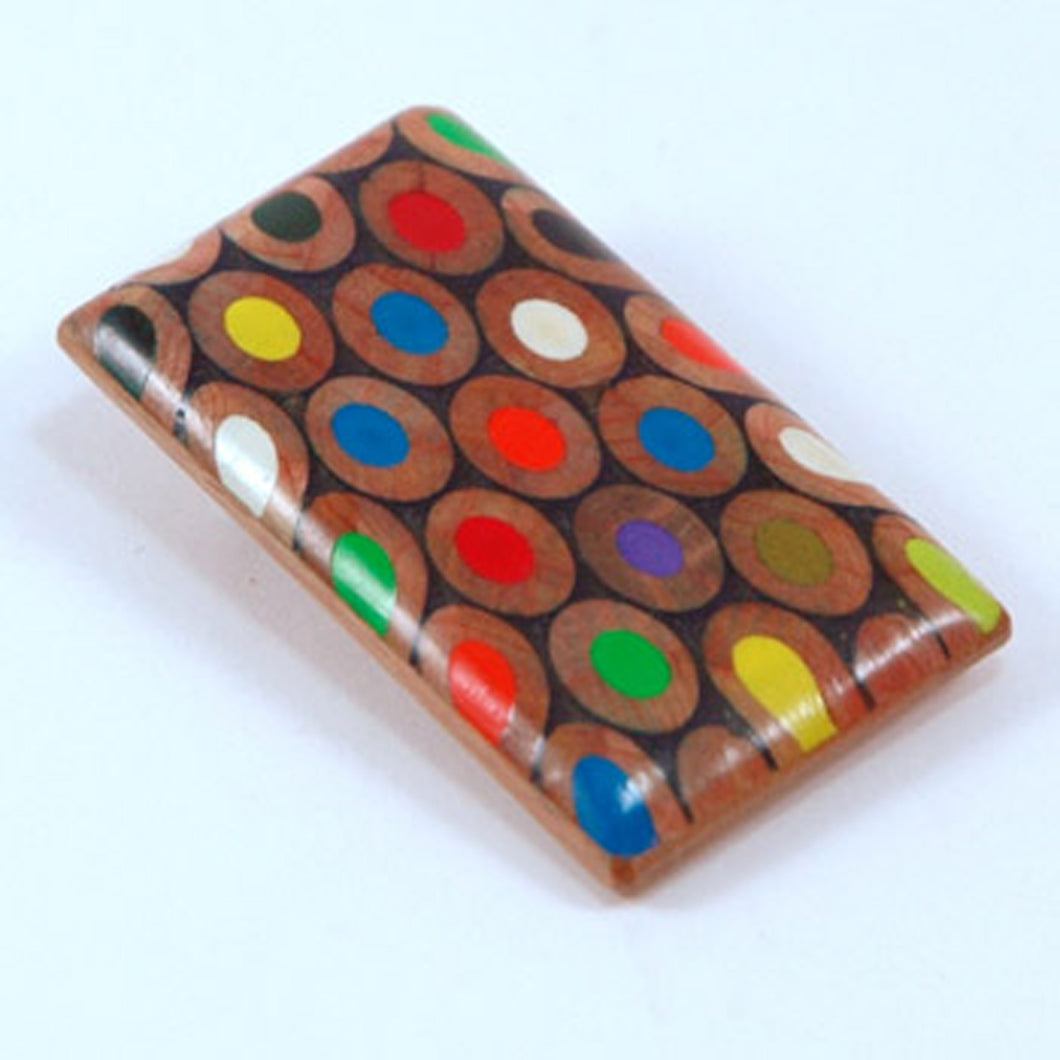 Recycled Pencil Oblong Brooch