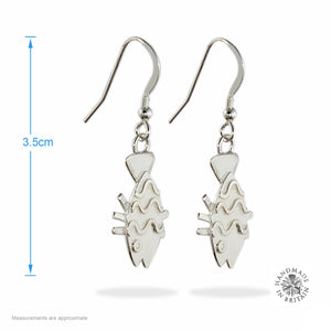 Silver Happy Fish Earrings