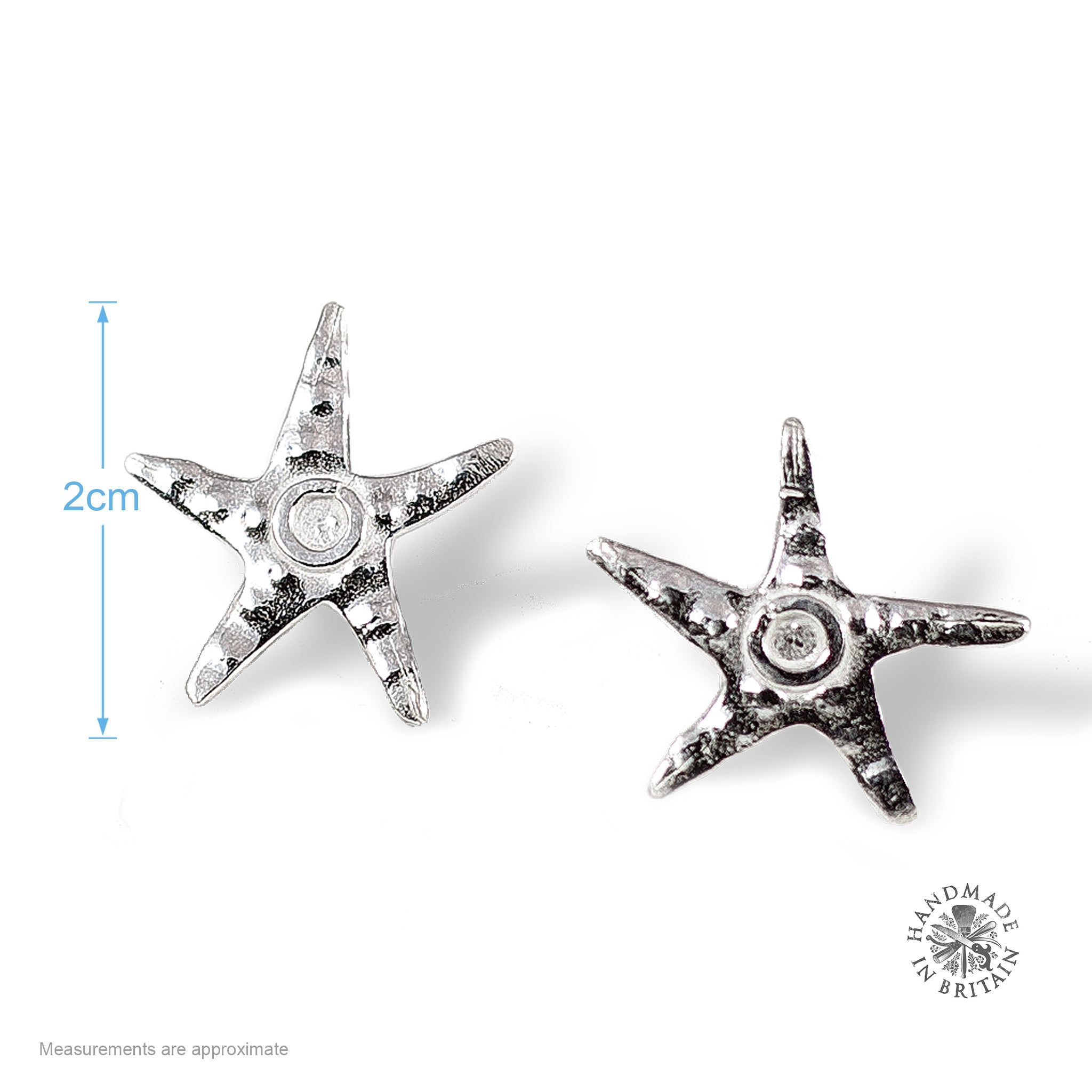 image genuine earrings products happy silver starfish tropical sterling stud in sparkle seaside