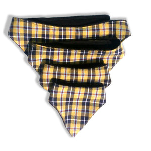 Small Dog's Bandana  Cornish Tartan- 100% fabric with black fleece lining