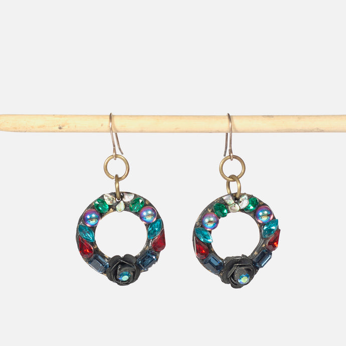 Spangly Medium Earrings Hoop by Annie Sherburne