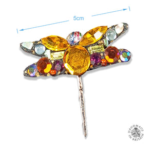 Spangly Small Dragonfly Brooch by Annie Sherburne