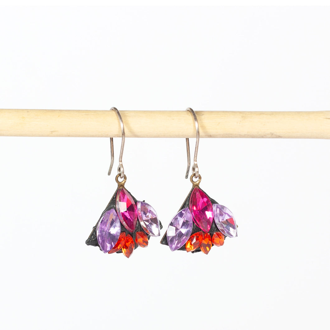 Spangly Small Earrings Red by Annie Sherburne