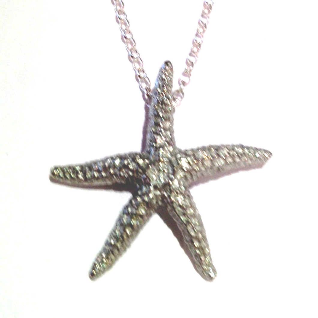 Starfish Pewter Pendant on Chain