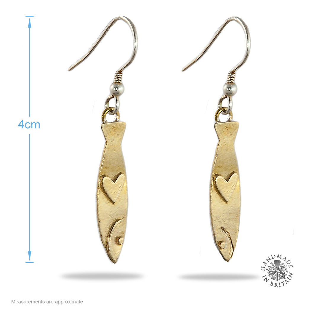 Tin Sardine Earrings