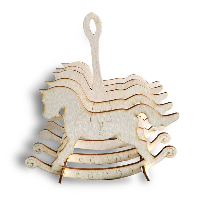 Wooden Flat Packed Rocking Horse Toast Rack