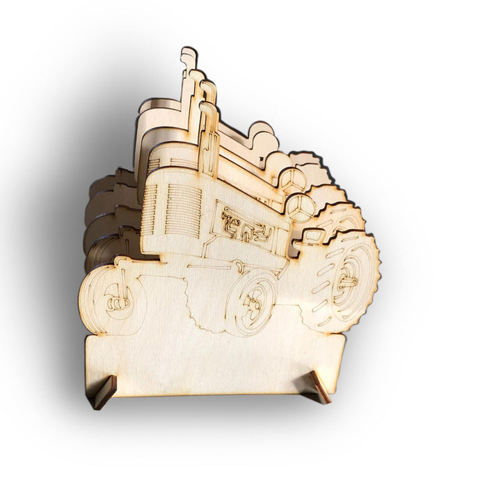 Wooden Flat Packed Tractor Toast Rack