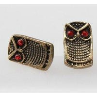 Retro Solid Square Owl Earrings