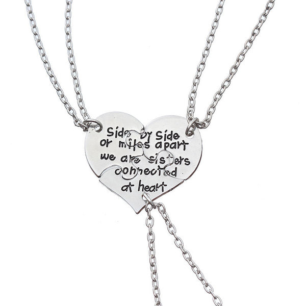 3 Pieces Side By Side Sisters Necklace