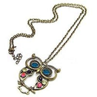 Vintage Owl Necklace Pendant