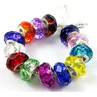 10 Faceted Charm Beads