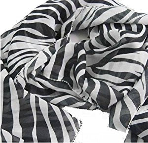 Zebra Animal Print Scarf